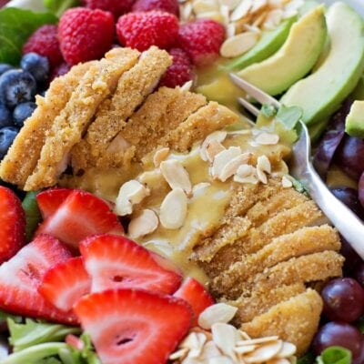 Chicken Berry Salad with Honey Mustard Dressing