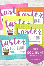 Egg Hunt Printable Signs