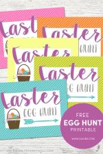 Egg Hunt Printable Signs