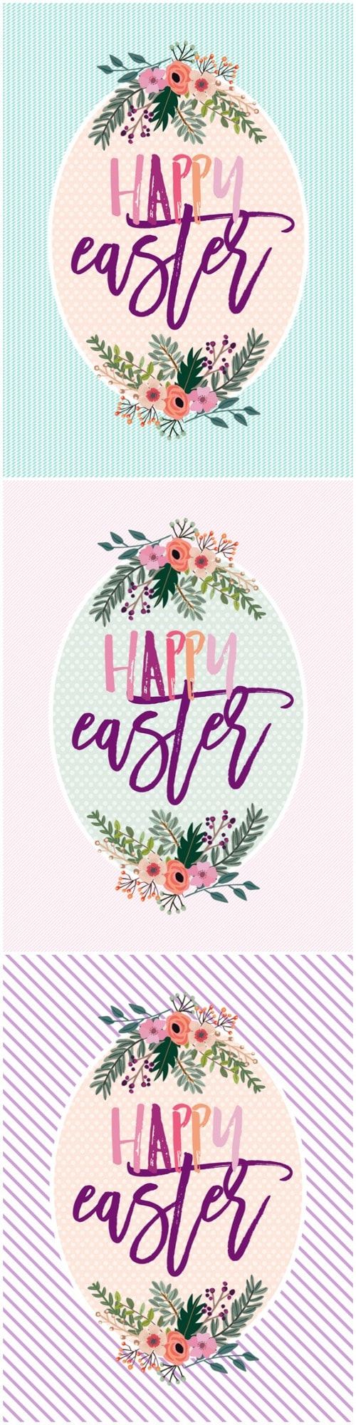FREE Happy Easter Printables - available to download in 3 colors!