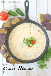 Hot Queso Blanco Dip by Delightful E Made