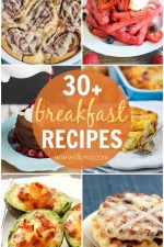 Looking for some awesome breakfast recipes Well look no further! Check out this roundup of 30+ breakfast recipes on { lilluna.com }!