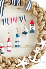Nautical Wreath with row of Buoys