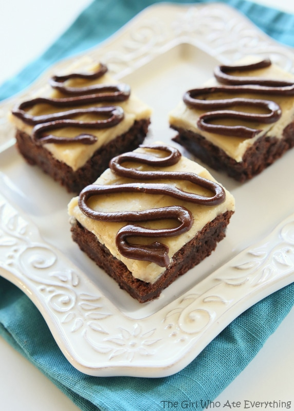 Salted Caramel Coconut Brownies