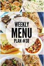 Weekly Menu Plan 38