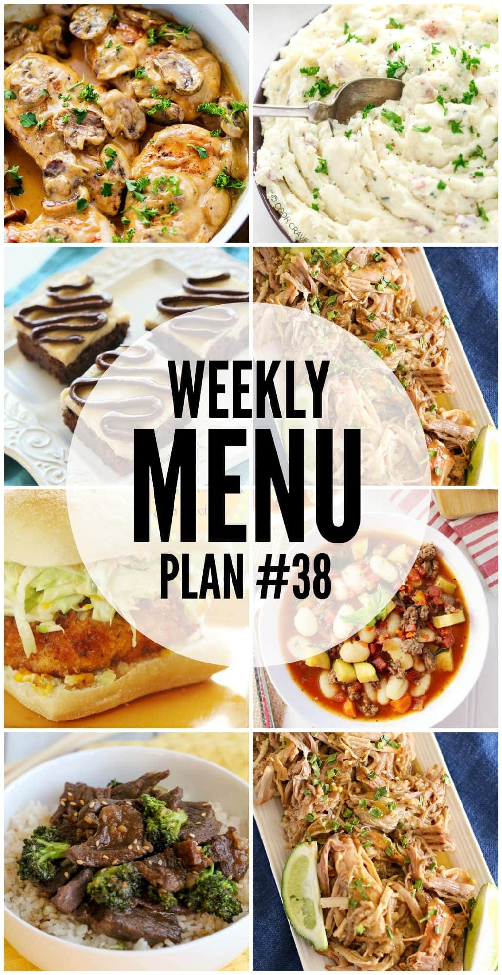 Weekly Menu Plan - a great collection of delicious dinner recipes to help you plan your weekly meals.