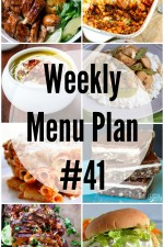 Weekly Menu Plan 41