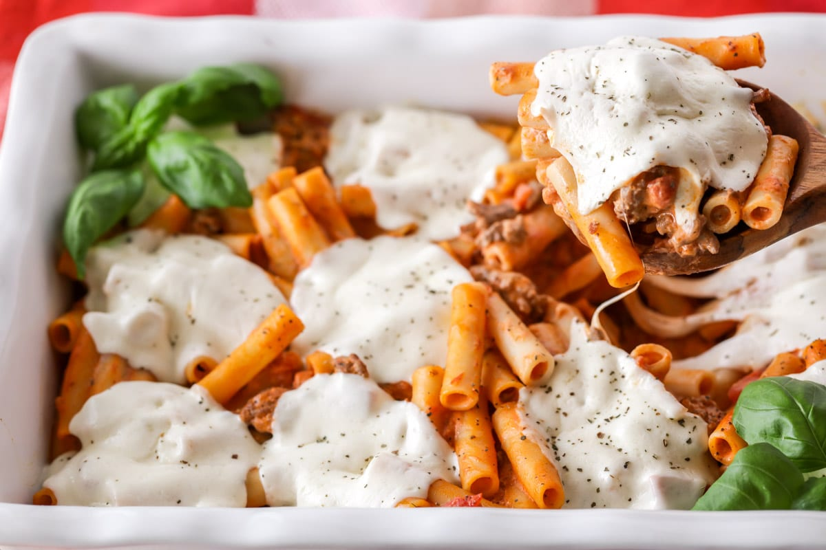 A spoonful of easy baked ziti