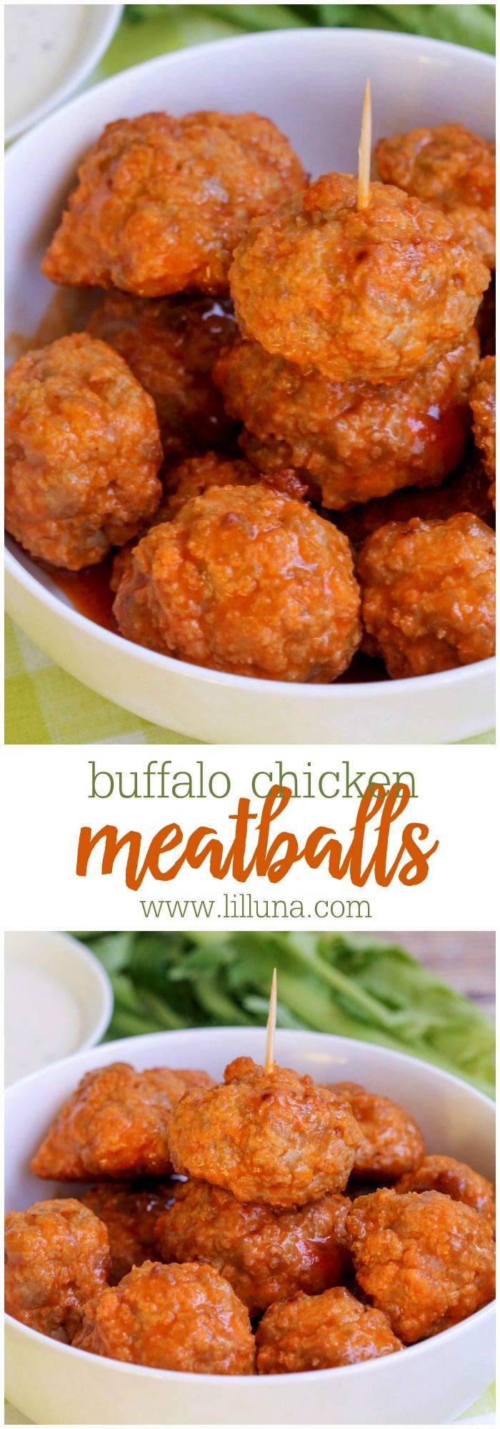 buffalo-chicken-meatballs-collage