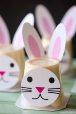 Bunny Pudding Cup Prints