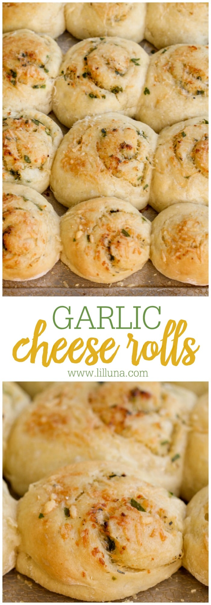 Super cheesy and delicious Garlic Rolls - a great side dish recipe that is perfect with any meal.