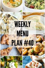 Weekly Menu Plan 40