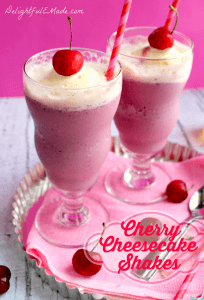 Cherry Cheesecake Shakes by Delightful E Made