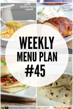 Weekly Menu Plan 45