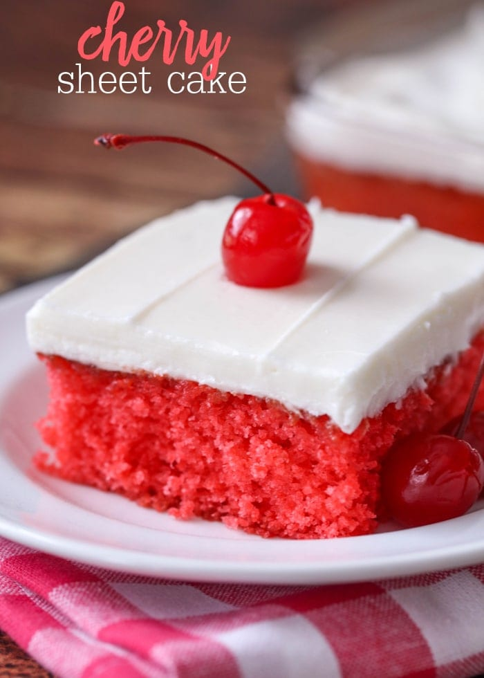 Cherry Sheet Cake Lil Luna