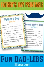 FREE Father's Day Dad-Lib Printable