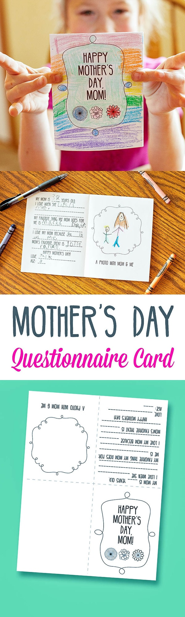 Free Mother's Day Questionnaire Card Print