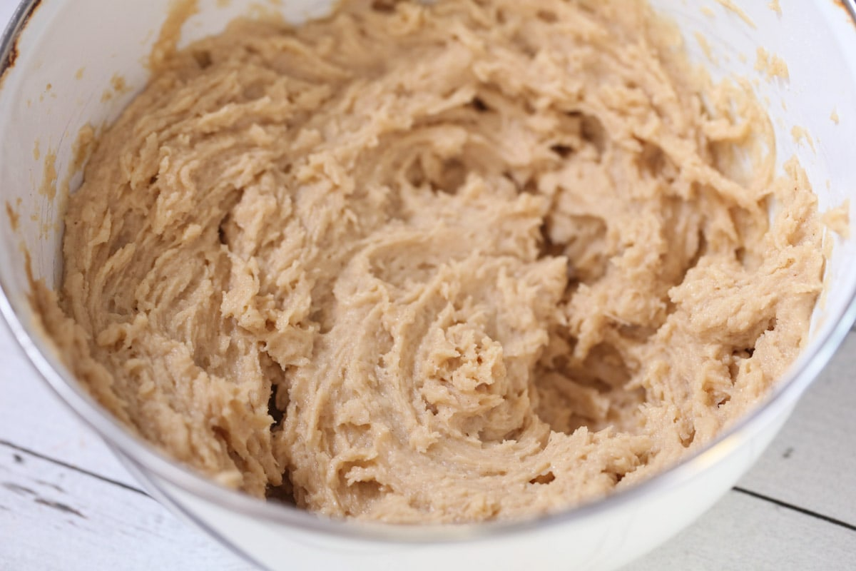 Peanut butter mixture in a bowl