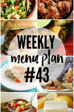 Weekly Menu Plan 43