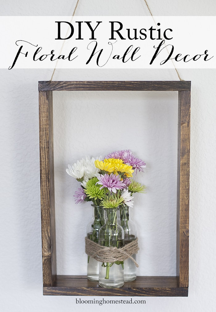 Diy rustic wall decor lil 39 luna for Floral decorations for home