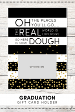 Graduation Gift Card Holder Print