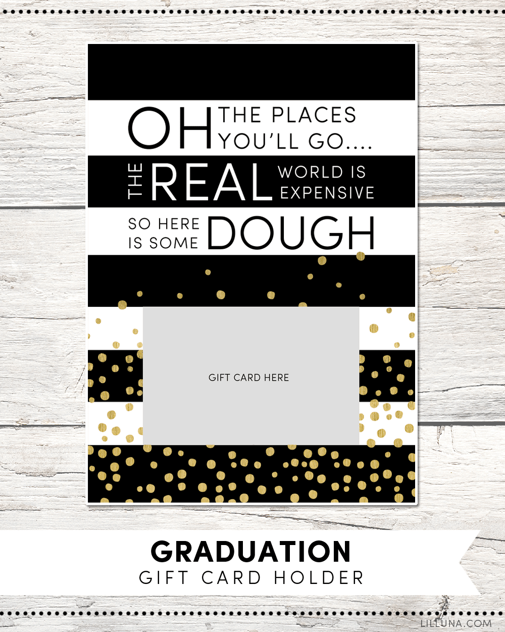 free graduation gift card holder print just attach a gift card and give to your - Gift Card Places