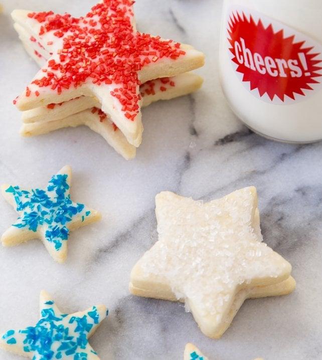 Patriotic Shortbread Cookies