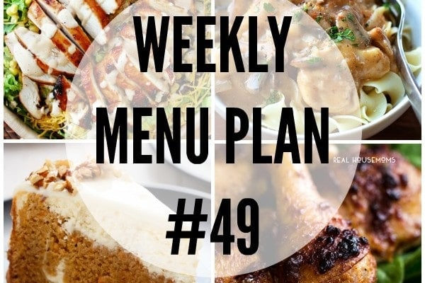 Weekly Menu Plan 49