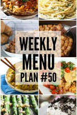 Weekly Menu Plan 50