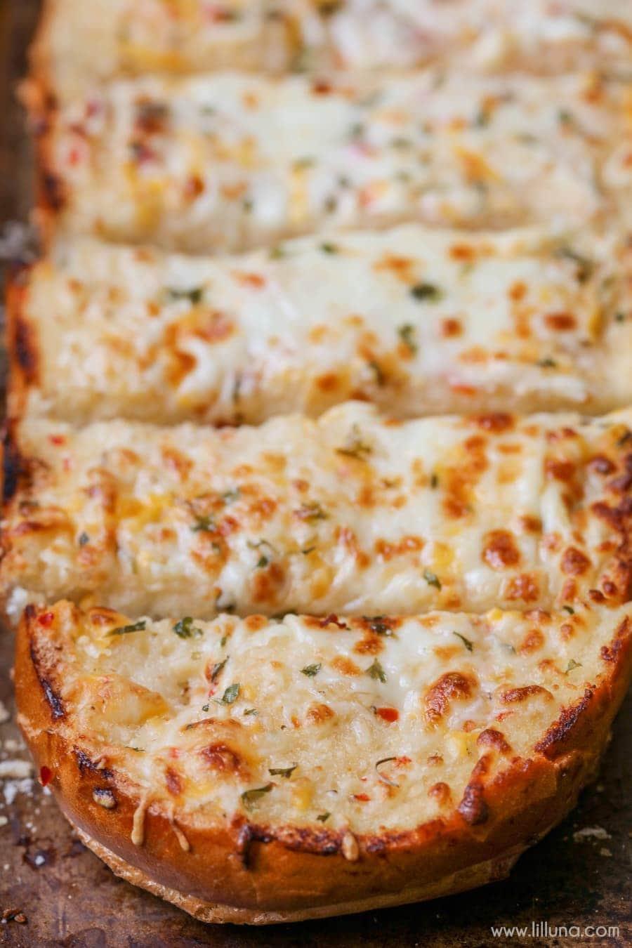 Favorite Cheesy Garlic Bread Recipe | Lil' Luna