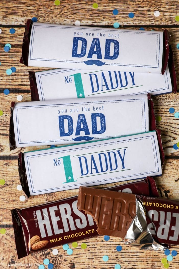 image regarding Printable Hershey Bar Wrappers called Fathers Working day Sweet Bar Wrappers - Lil Luna