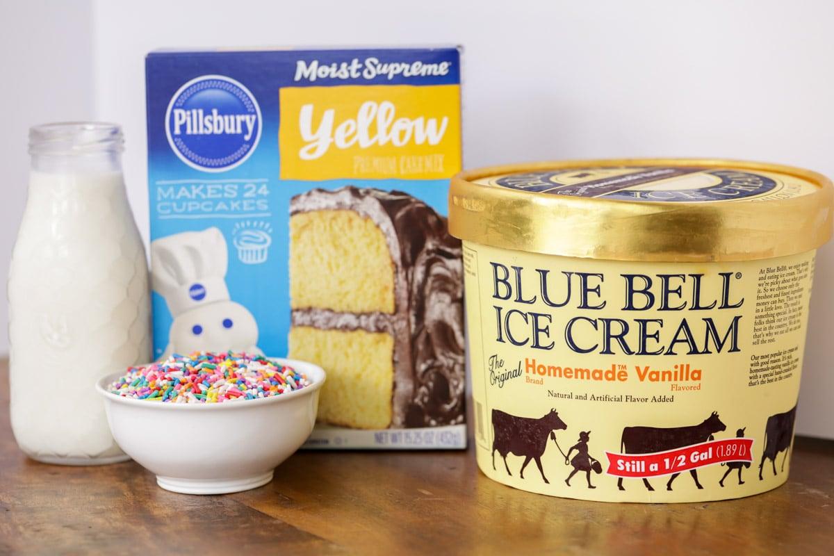 Funfetti milkshake ingredients