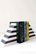 DIY Striped Bookends (Like West Elm!)