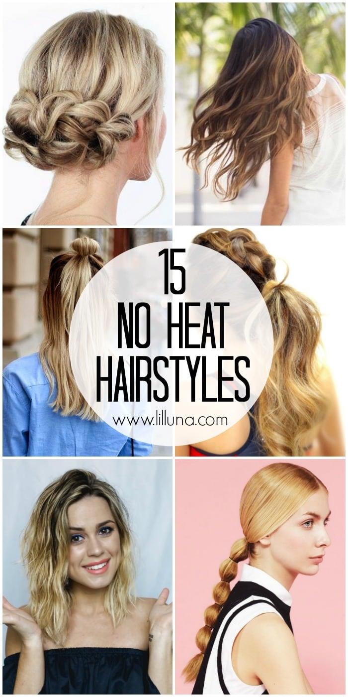 Wondrous 15 No Heat Hairstyles Lil39 Luna Short Hairstyles Gunalazisus