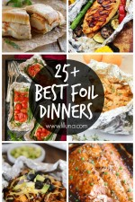 25+ Best Foil Dinners - a roundup of tons of awesome foil dinners that you can do at a campfire or at home! Check it out at { lilluna.com }!