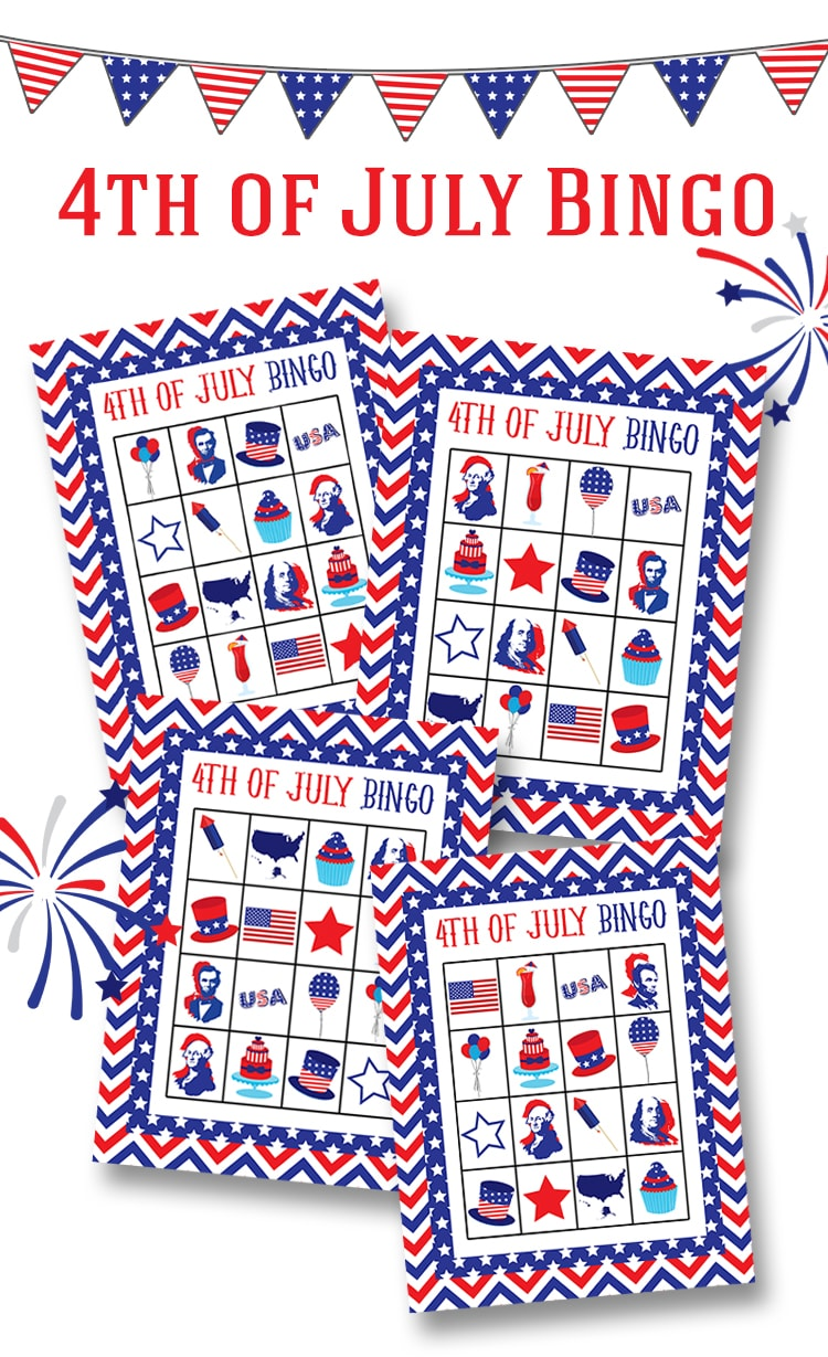 This is a photo of Gutsy Free 4th of July Printables