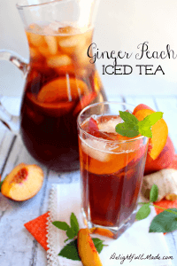Ginger Peach Iced Tea at DelightfulEMade.com