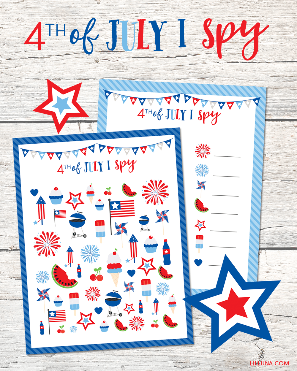 photo relating to I Spy Printable called 4th of July I Spy Printable - Lil Luna