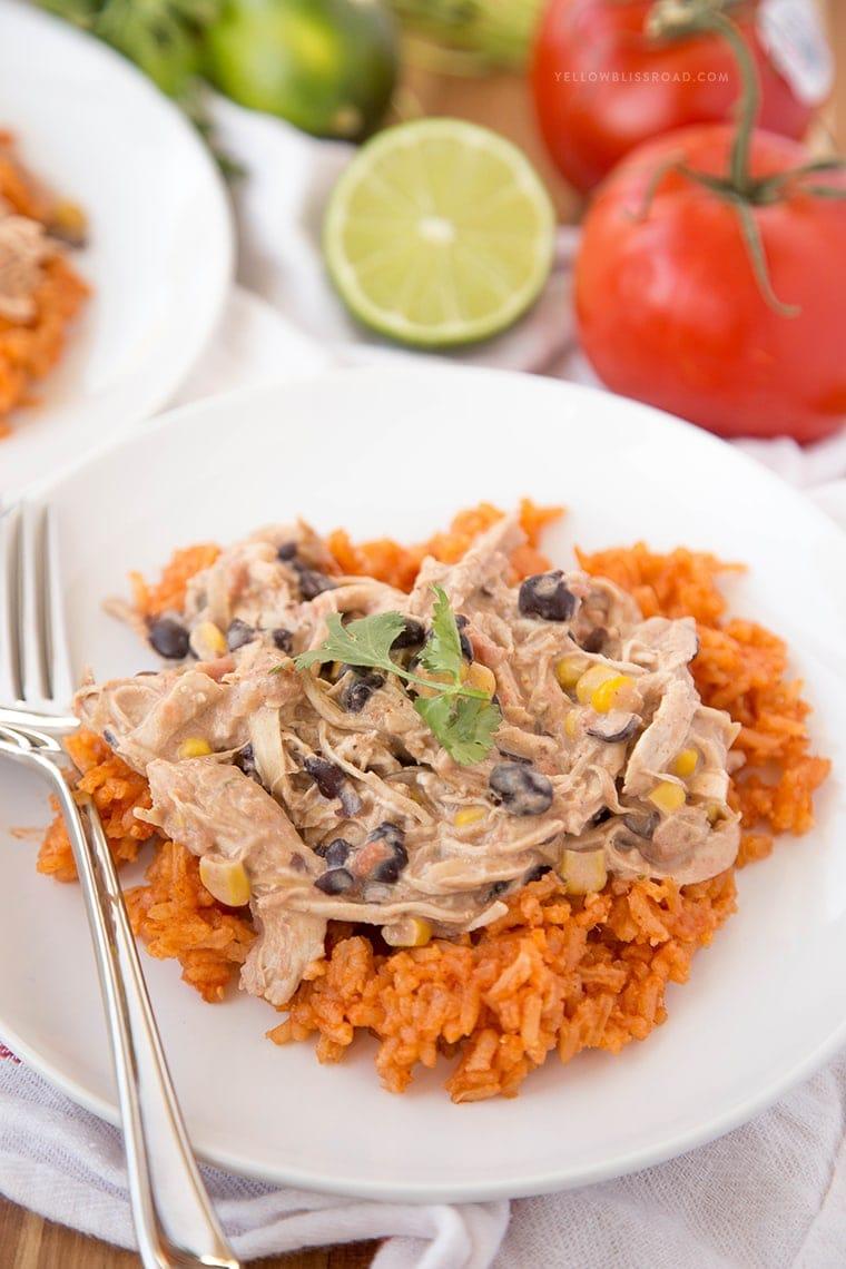 fiesta chicken over rice