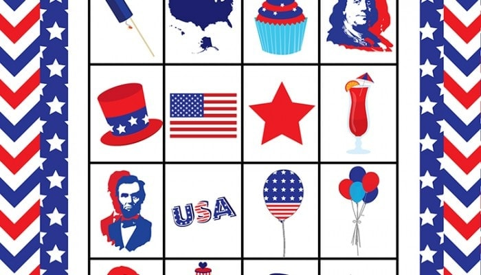 FREE 4th Of July Bingo Printable