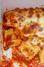 Easy Cheesy Baked Ravioli