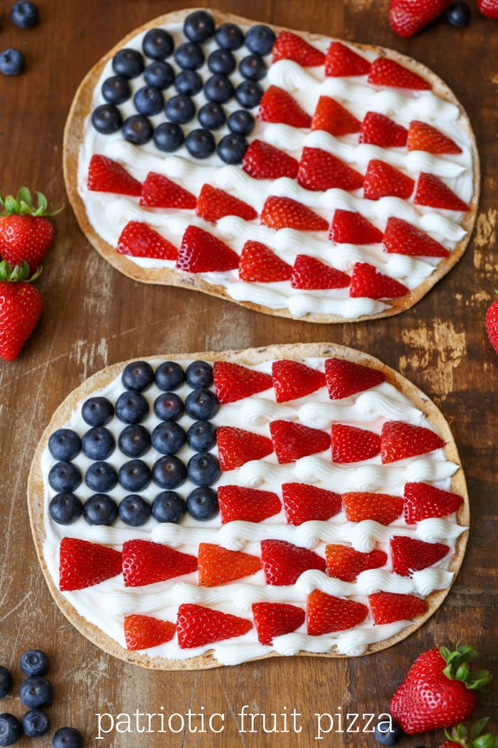 Patriotic Fruit Pizza Lil Luna