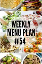 Weekly Menu Plan 54