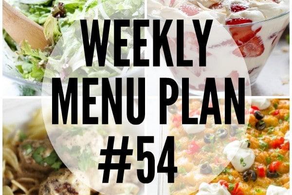 Weekly Menu Plan 54