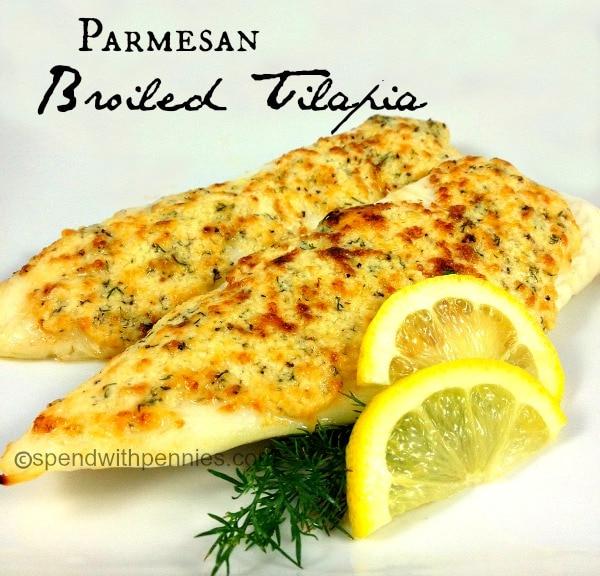 Parmesan Broiled Tilapia