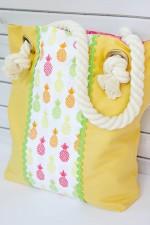 Easy Summer Pineapple Tote Bag