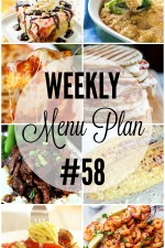 Weekly Menu Plan 58