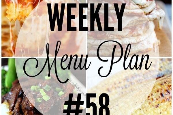 Weekly Menu Plan 58