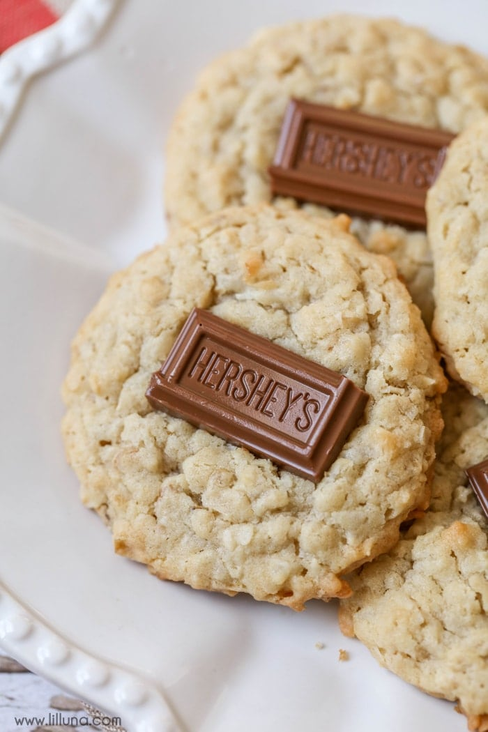 Soft and chewy Chocolate Coconut Oatmeal Cookies - these treats are irresistible and so delicious!