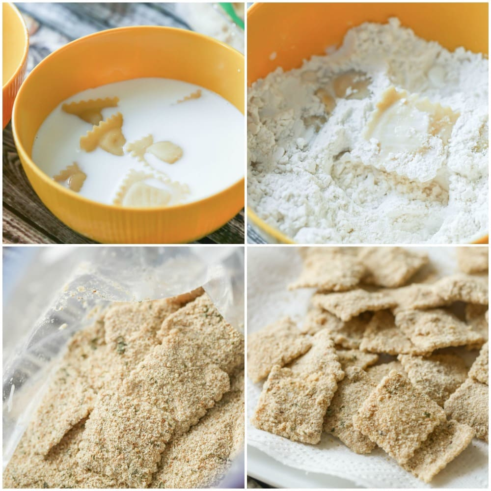 How to make fried ravioli process pics